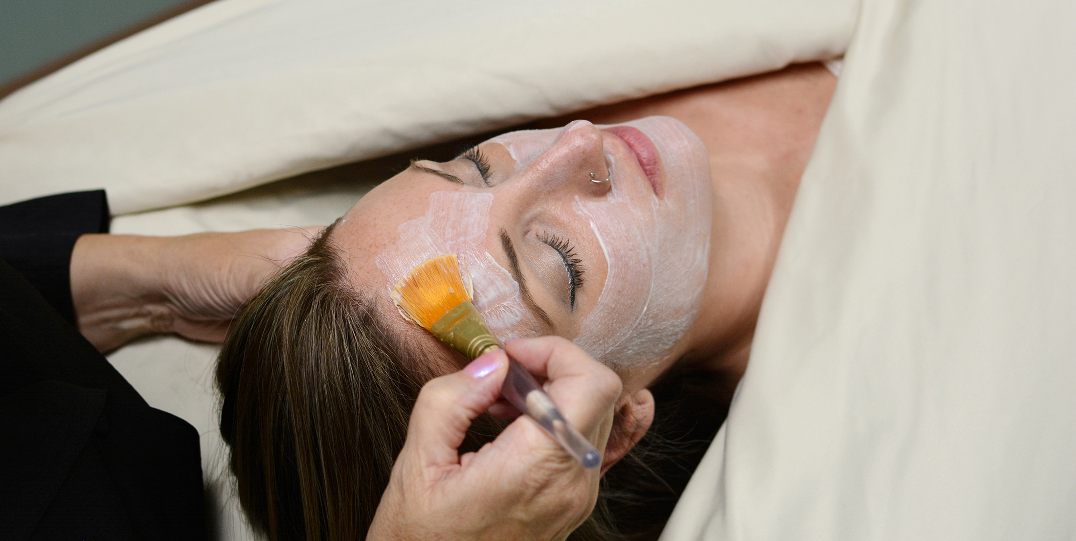 Facial treatment at Afterglow Providence
